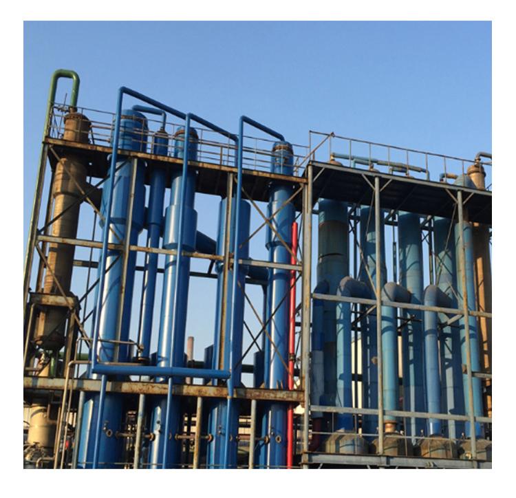 多效废水蒸发器首要适用于有结晶体分出溶液的蒸腾与结晶